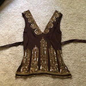 New, with tags Tracy Reese sequined silk top